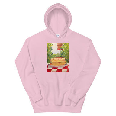 """Pancakes"" Unisex Hoodie - College Collections Art"
