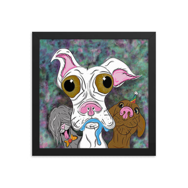 """BeYOUtiful Doggos"" Framed poster - College Collections Art"