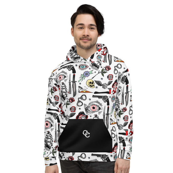 """Pirate Life"" Unisex Hoodie - College Collections Art"