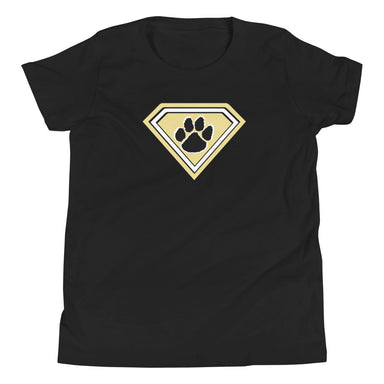 """Super Tiger"" Youth Short Sleeve T-Shirt - College Collections Art"