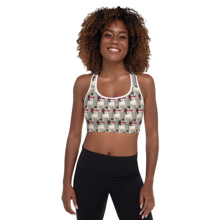"""Princess"" Padded Sports Bra - College Collections Art"