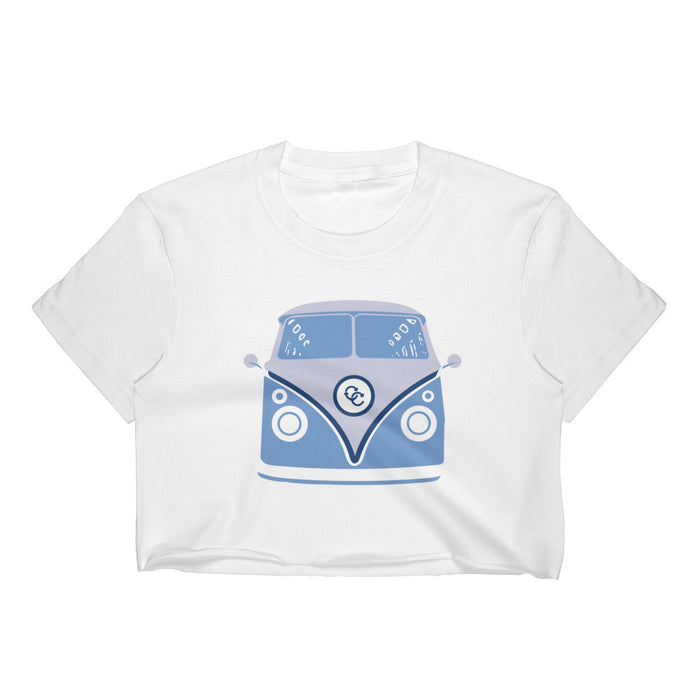 """70's Van"" Cropped Tee - College Collections Art"