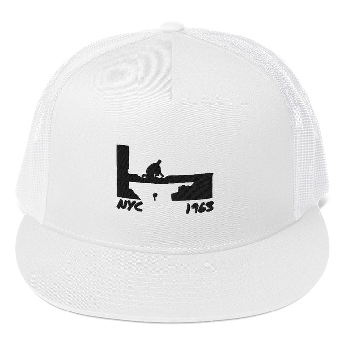 """NYC 1963 Silhouette"" Trucker Hat - College Collections Art"