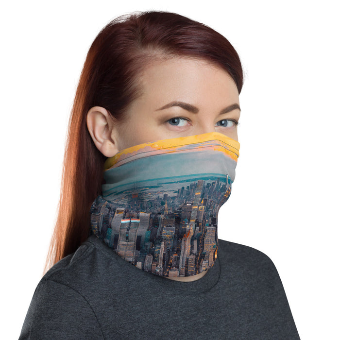 """Top Down Middle"" Neck Gaiter - College Collections Art"