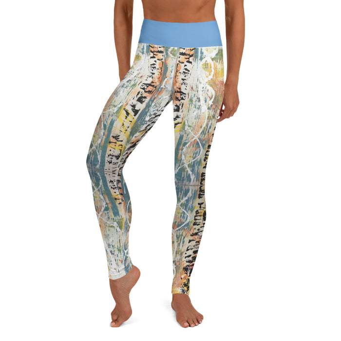 """Untitled DNA"" Yoga Leggings - College Collections Art"