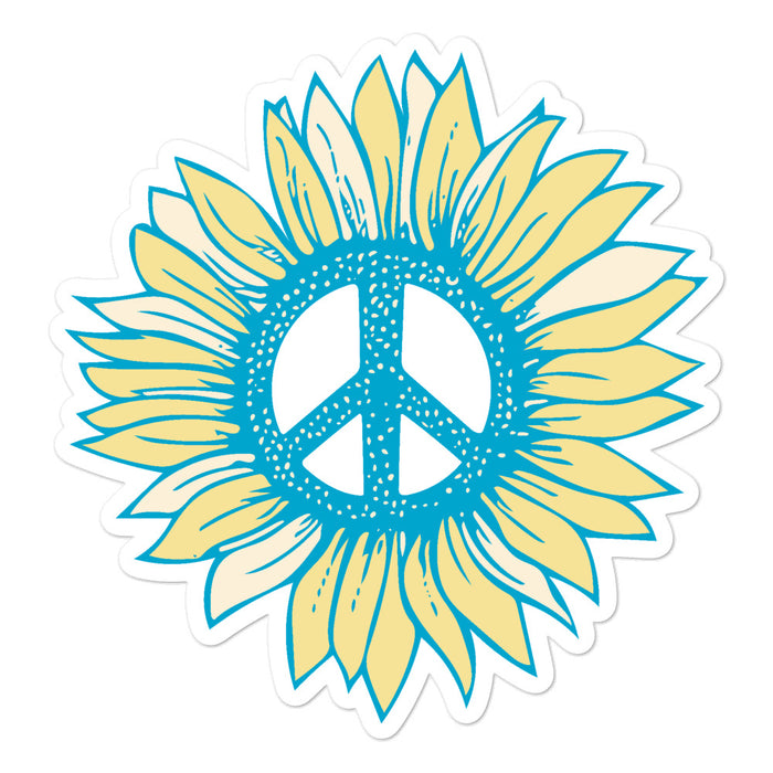 """Peace Flower"" Bubble-free stickers - College Collections Art"