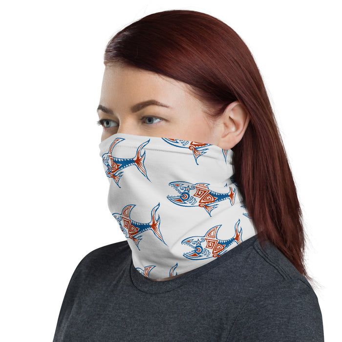 """America Shark"" Neck Gaiter - College Collections Art"