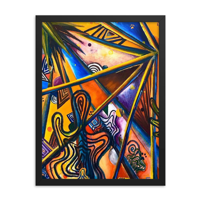 """Geo- Therapy One"" Framed poster - College Collections Art"