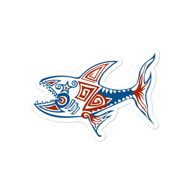 """AMERICA Shark"" Bubble-free stickers - College Collections Art"