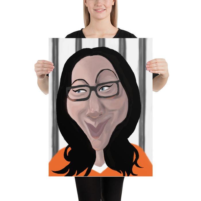 """Vause Charicature"" Poster - College Collections Art"