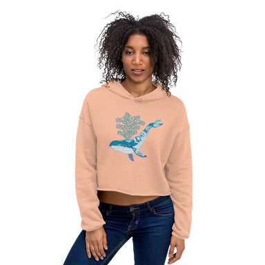 """Whale"" Crop Hoodie - College Collections Art"