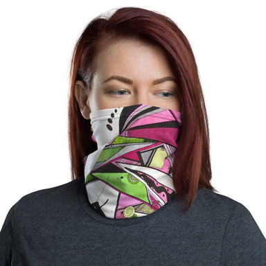 """Geo Therapy Five"" Neck Gaiter - College Collections Art"