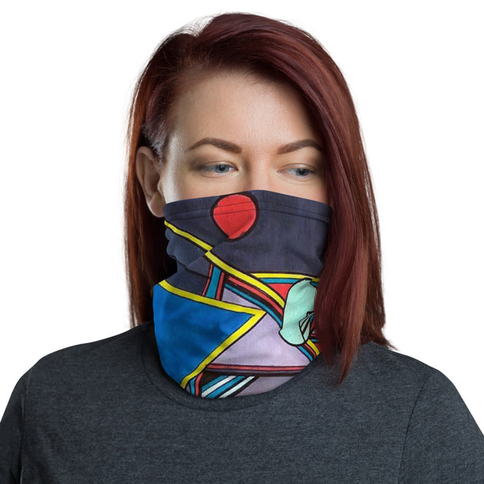 """Geo Therapy Eight"" Neck Gaiter - College Collections Art"