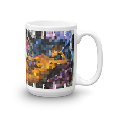 """Stained Comfort"" Mug - College Collections Art"