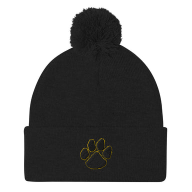 Tiger Paw Pom-Pom Beanie - College Collections Art