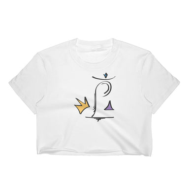 King P Cropped Tee - College Collections Art