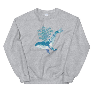 """Humpback"" Unisex Sweatshirt - College Collections Art"
