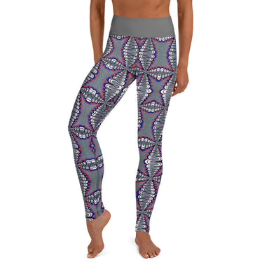 """Untitled Work"" Yoga Leggings - College Collections Art"