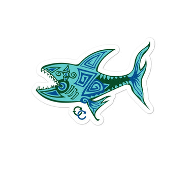 """O.G. Shark"" Bubble-free stickers - College Collections Art"
