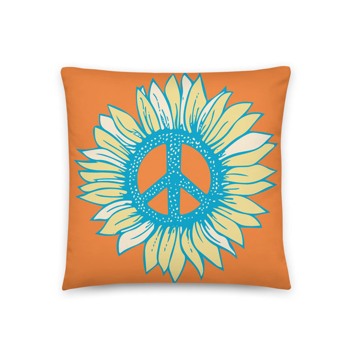 """Peace-Flower"" Basic Pillow - College Collections Art"