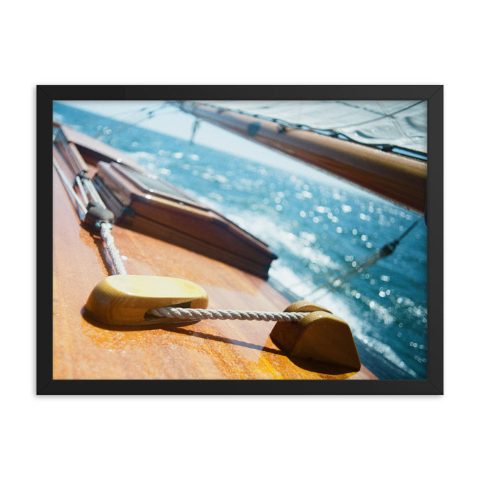 """Centerboard Tackle"" Original Film Photography - Framed Print - College Collections Art"
