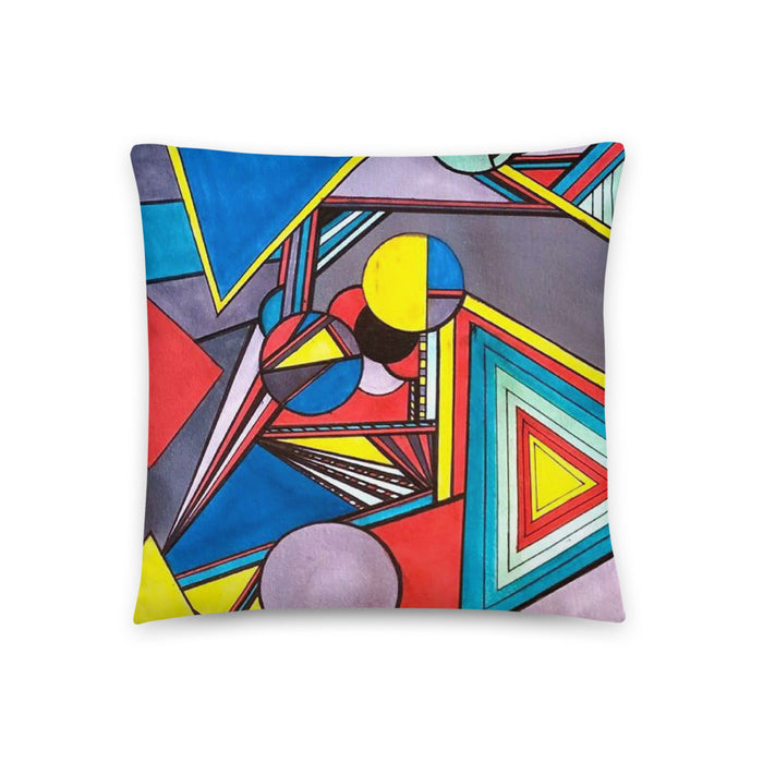 """Geo Therapy Eight"" Basic Pillow - College Collections Art"