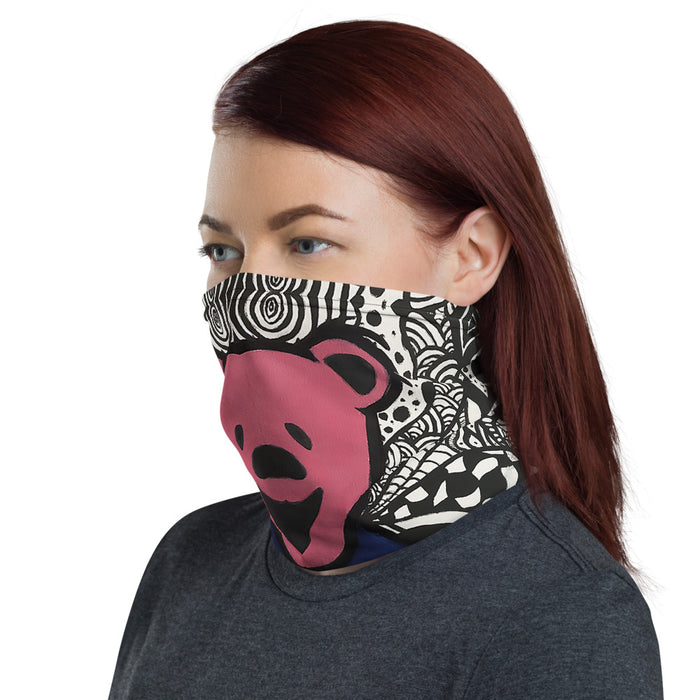 """Dead Bear"" Neck Gaiter - College Collections Art"