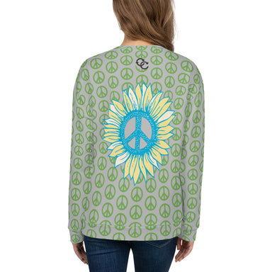 """Peace-flower"" Unisex Sweatshirt - College Collections Art"