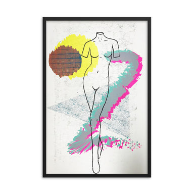 """Curves"" Framed poster - College Collections Art"