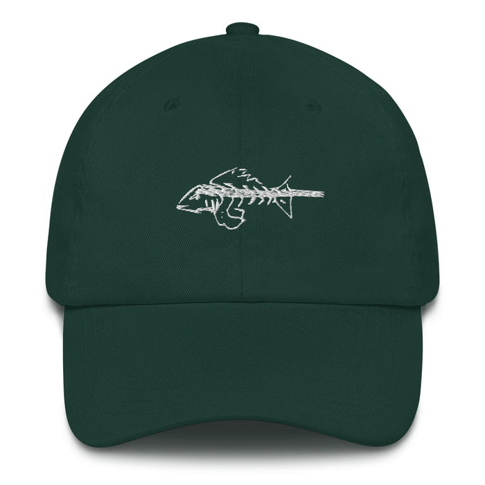 """Bone Fish"" Dad hat - College Collections Art"
