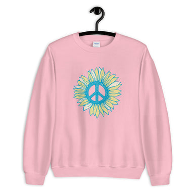 """Peace- flower"" Unisex Sweatshirt - College Collections Art"