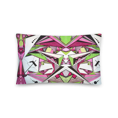 """Geo Therapy Five"" Basic Pillow - College Collections Art"