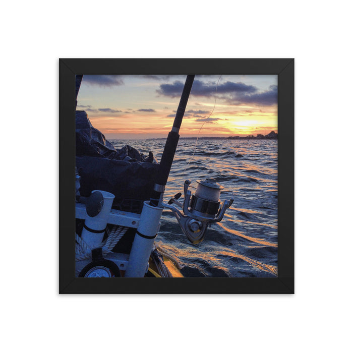 """Fishing"" Framed poster - College Collections Art"