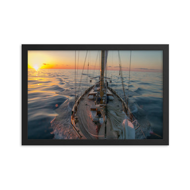 """Silky Sunset"" Framed Print - College Collections Art"
