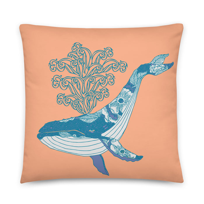 """Whale"" Basic Pillow - College Collections Art"
