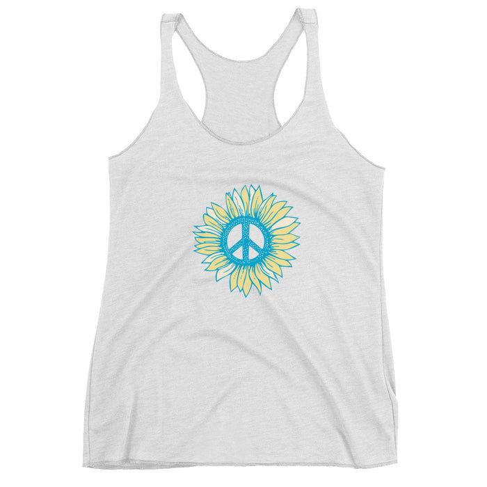 """Peace-flower"" Women's Racerback Tank - College Collections Art"