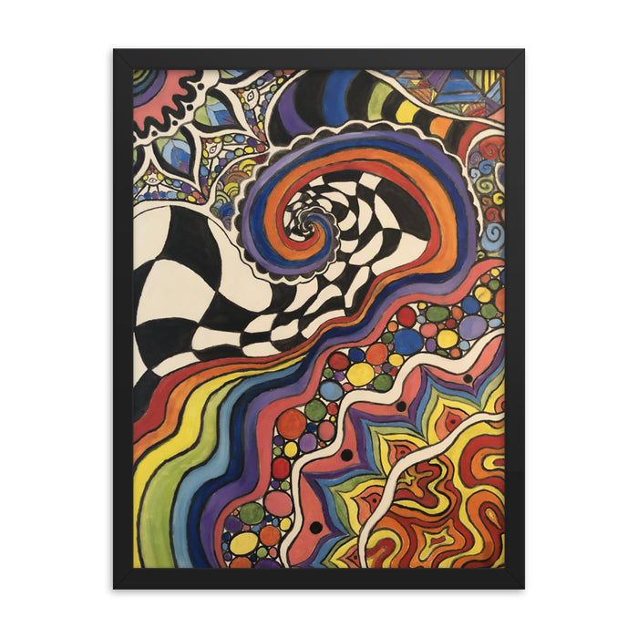 """Zenfunkadelic"" Framed poster - College Collections Art"