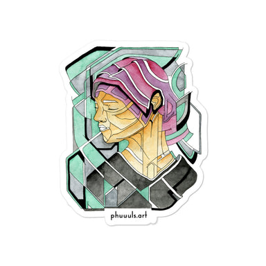 """Fragmented Portrait"" Bubble-free stickers - College Collections Art"