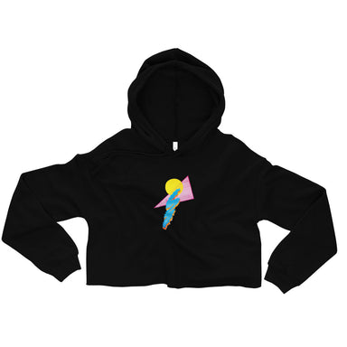 """Shapes"" Crop Hoodie - College Collections Art"