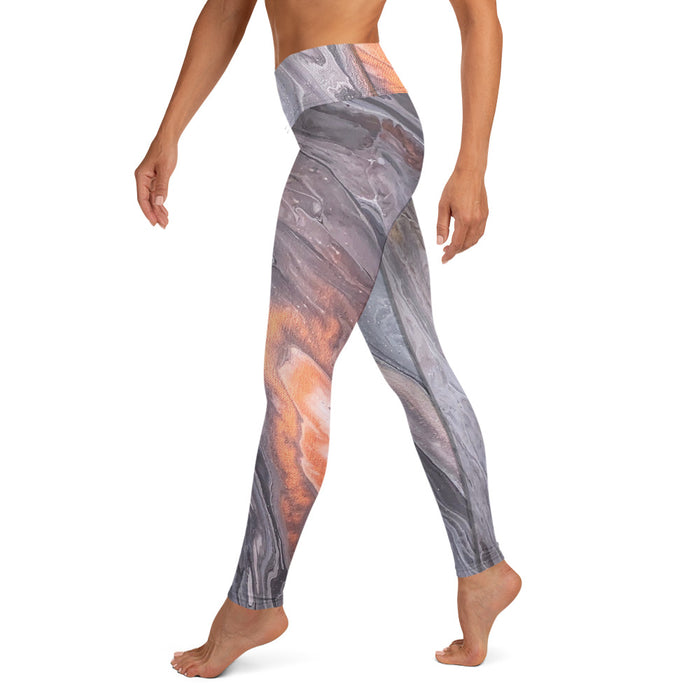 """Silk River (1/3)"" Yoga Leggings - College Collections Art"