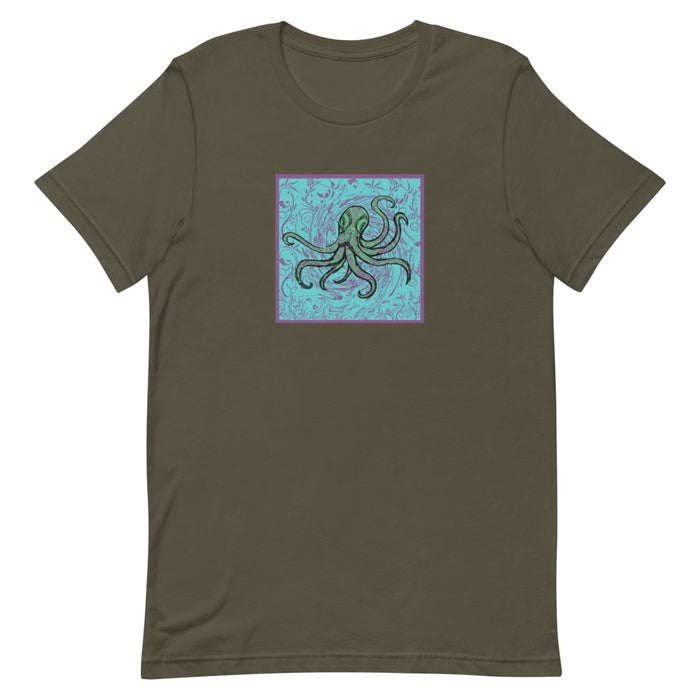 """Octopus"" Short-Sleeve Unisex T-Shirt - College Collections Art"