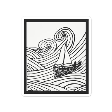 """Rough Waters"" Bubble-free stickers - College Collections Art"