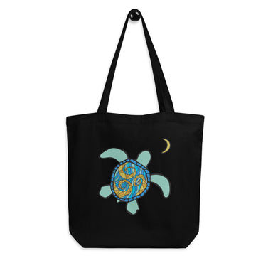 """Turtle Moon"" Eco Tote Bag - College Collections Art"