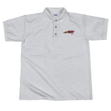 """Red Fly"" Embroidered Polo Shirt - College Collections Art"
