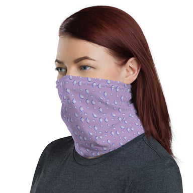 """Oysterfest Purple"" Neck Gaiter - College Collections Art"