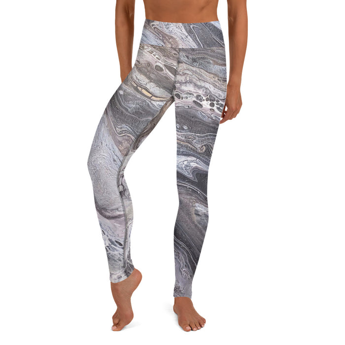 """A Rocky Road"" Yoga Leggings - College Collections Art"