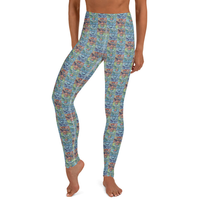 """Grateful Pop"" Yoga Leggings - College Collections Art"