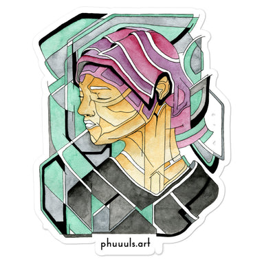 """Fragmented Portrait"" Bubble-free stickers"