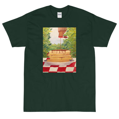 """Pancakes"" Short Sleeve T-Shirt - College Collections Art"