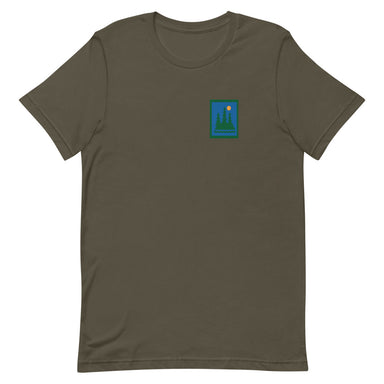 """Hike"" Short-Sleeve Unisex T-Shirt - College Collections Art"